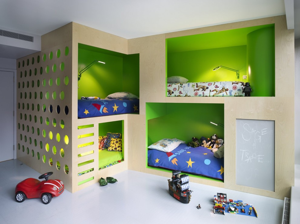 Inspiration for a contemporary kids' bedroom remodel in New York