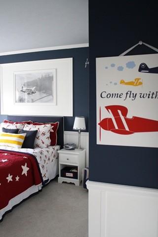Boy airplane room kids