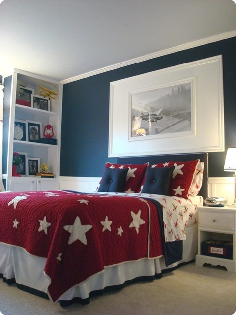 Boy airplane room kids indianapolis by thrifty decor for Boys airplane bedroom ideas