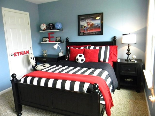 Boy 39 s soccer room contemporary kids richmond by for Themed bedrooms for boys
