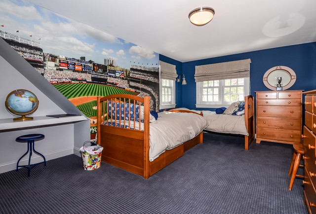 Boys Baseball Bedroom Traditional Kids