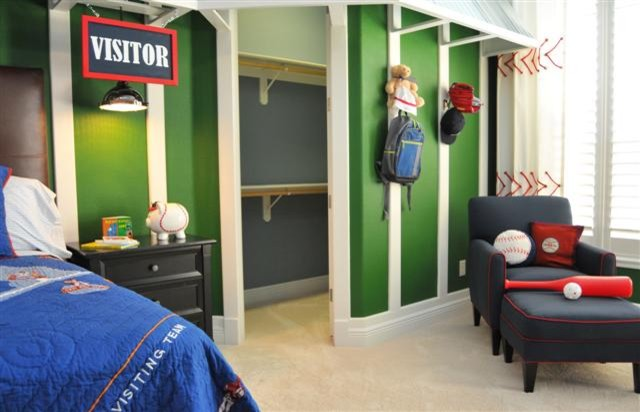 Boys Baseball Room Contemporary Kids