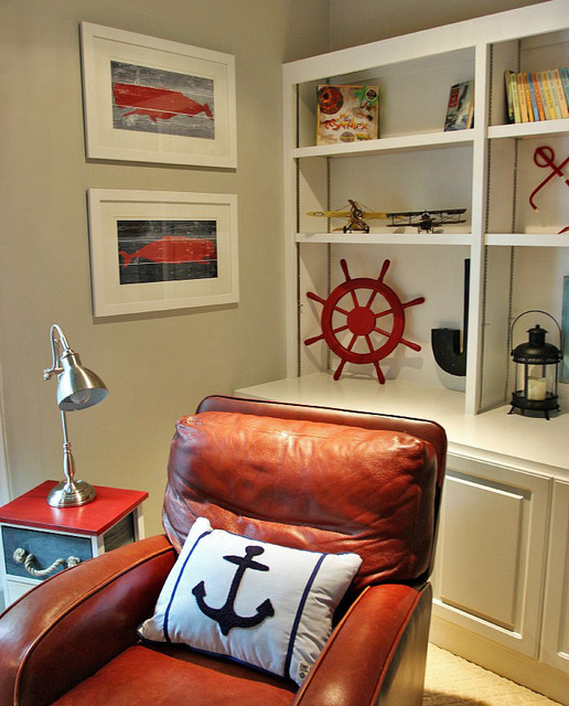 Nautical Themed Kids Room : Boys Nautical Themed Room - Beach Style - Kids - nashville - by JD ...