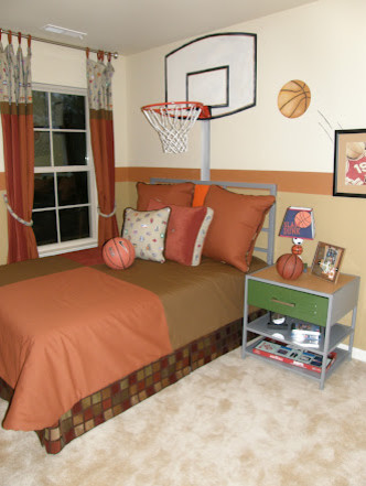 Basketball Bedrooms Boys Rooms Traditional Kids Atlanta By Anita Roll