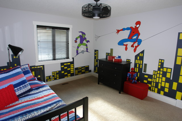 Lovely Boys Spiderman Bedroom Modern Kids