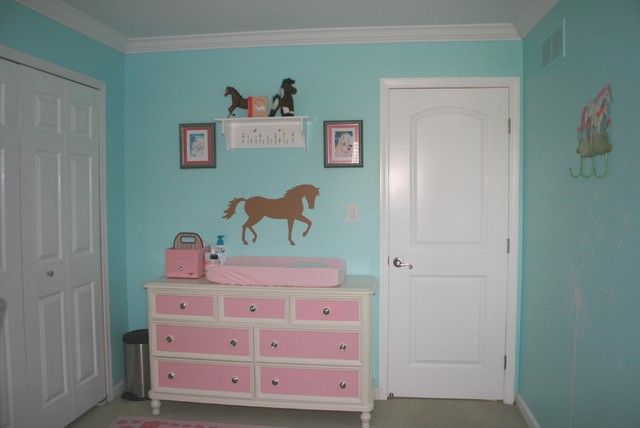Briana's Nursery in the old house contemporary-kids