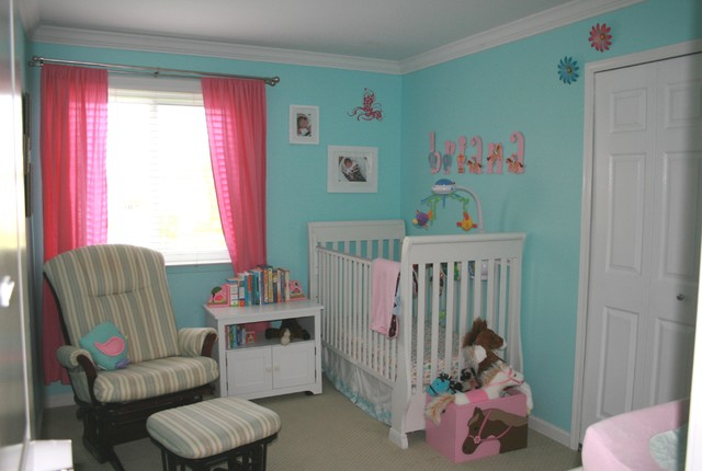 Brianas Nursery in the old house contemporary kids