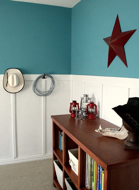 Bright And Fun Western Room traditional-kids