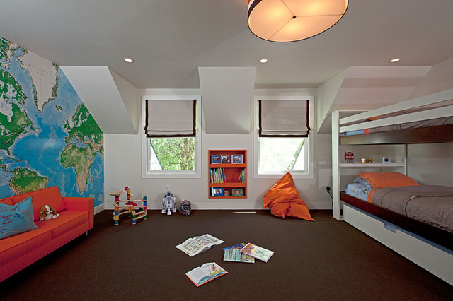 Brookville, Long Island contemporary-kids