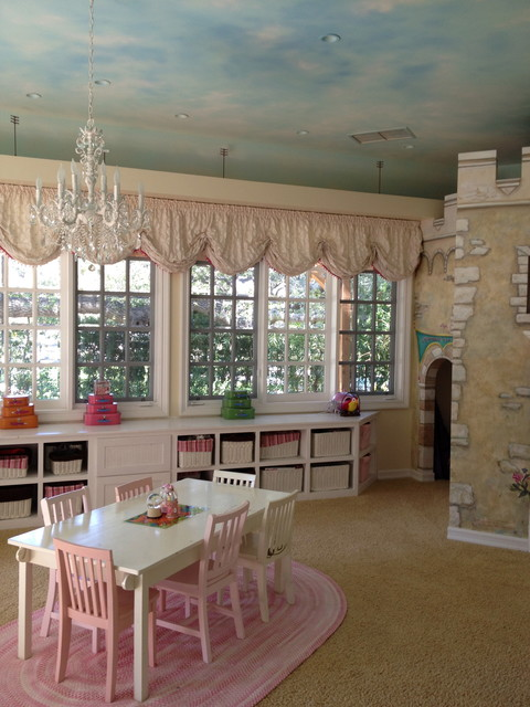 Built-In Castle Playroom contemporary-kids
