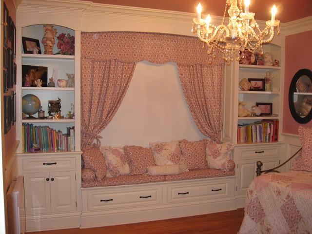 Built in  girl s bedroom  bedroom cabinets  daybed   chandelier   pink  bedroom. Built in  girl s bedroom  bedroom cabinets  daybed   chandelier