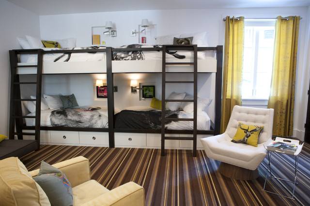 Bunk Bed Room Addition, New Construction modern-kids