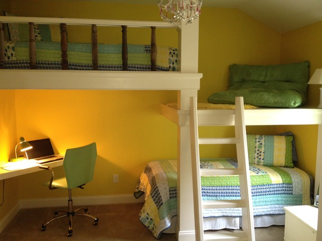 Bunk Beds, Desk and Platform - Contemporary - Kids - atlanta - by True ...
