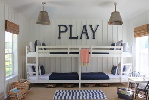 nautical bunk room + coastal cottage style