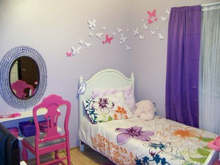 Butterfly girls room traditional kids ottawa by for Childrens butterfly bedroom ideas