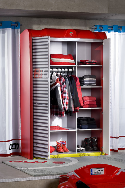 Car Bed Kids Bedroom Garage Wardrobe Modern Kids