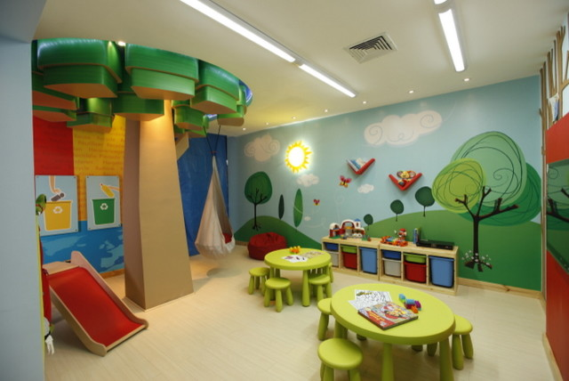 Trendy Kids Room Photo In Other