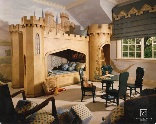 Castle Bed traditional-kids
