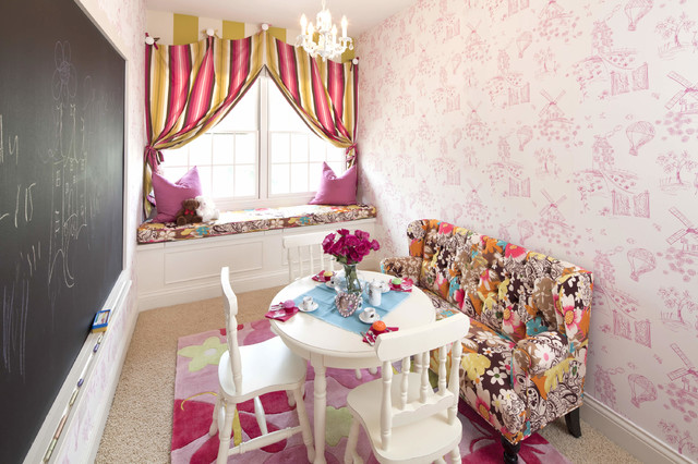 castle bunk bed & play space - transitional - kids - houston -
