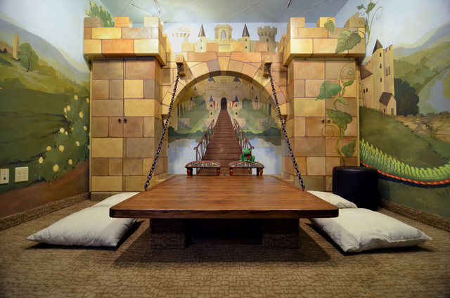 Castle room traditional kids dallas by youdreamit for Castle kids room