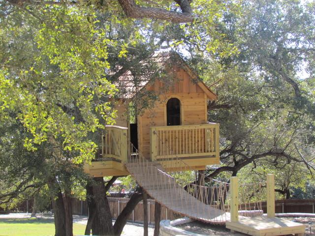 Cedar Shake Tree House Eclectic Kids Austin By