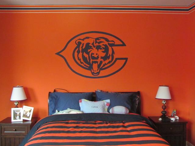 Chicago Bears Room Transitional Kids Philadelphia By Alm Custom Painting