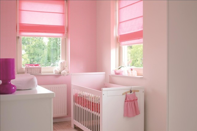 Child friendly roman shades eclectic kids other - Roman shades for kids room ...