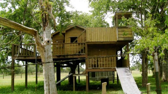 Children Playhouse Fort Rustic Kids Houston By