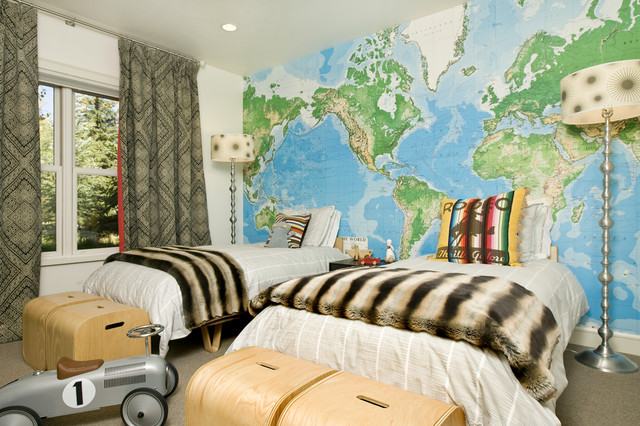 Children S Bedroom Grace Home Design Eclectic Kids