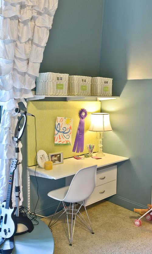 Back to School Organizing Tips - easy DIY desk