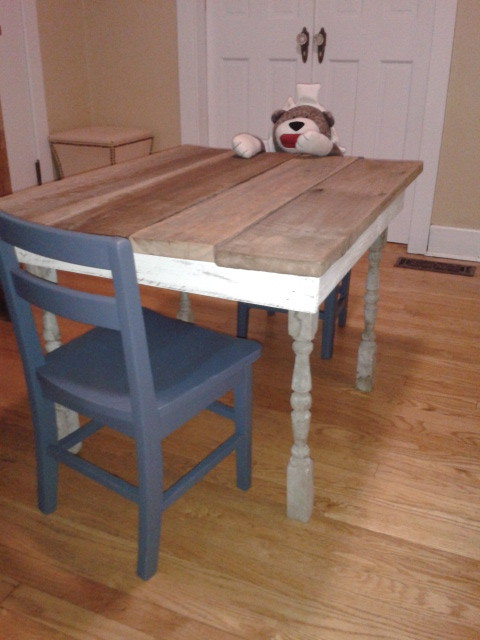 Childrens Reclaimed Wood Barn Tables traditional-kids