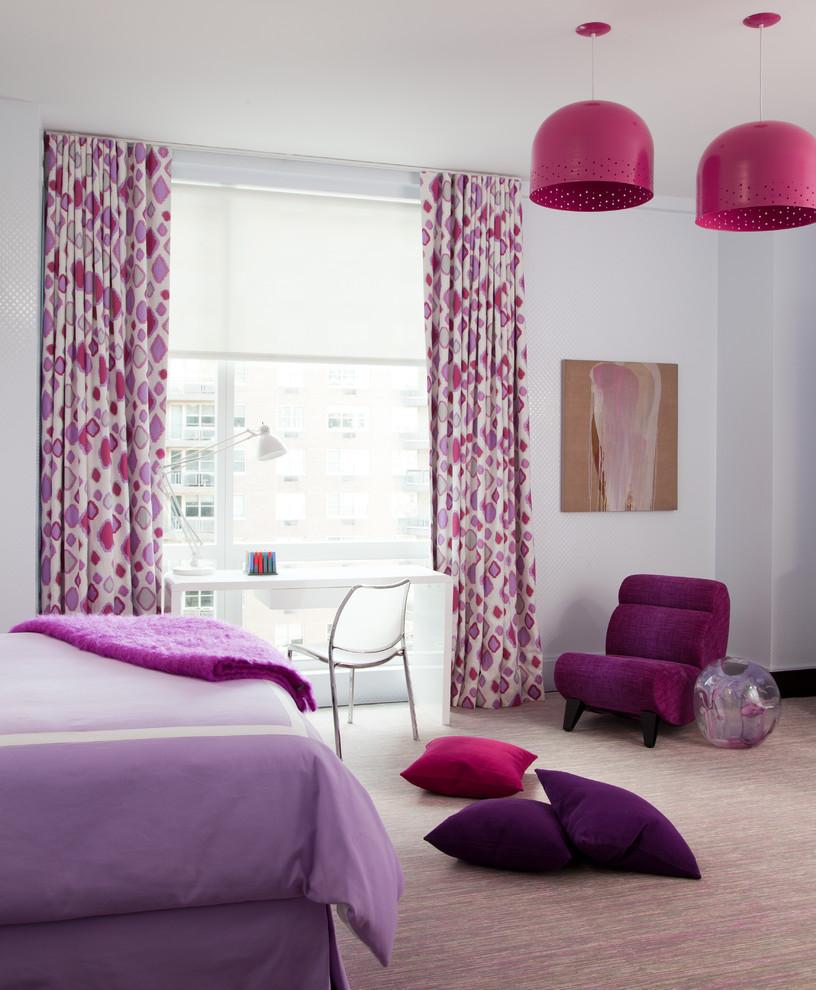 Kids' room - contemporary girl kids' room idea in New York