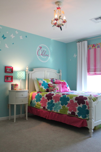 Classic & Color-Infused Girls Bedroom traditional kids