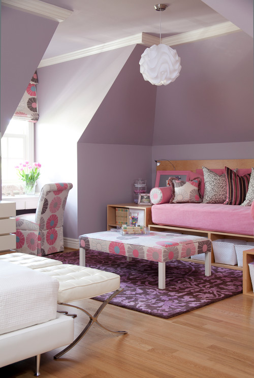 contemporary kids Color of the Month: Decorating with Pink