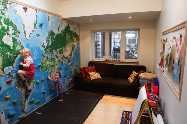 Climbing Wall World Map Mural Eclectic Kids Seattle By - World map for kids room