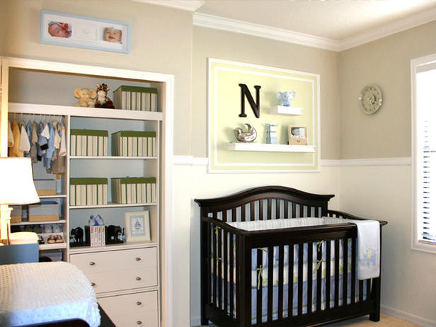 Clutter free nursery contemporary kids