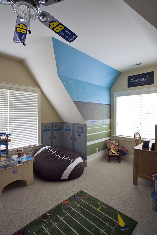 20+ Football Themed Bedrooms for Boys! Decor & Furniture Ideas