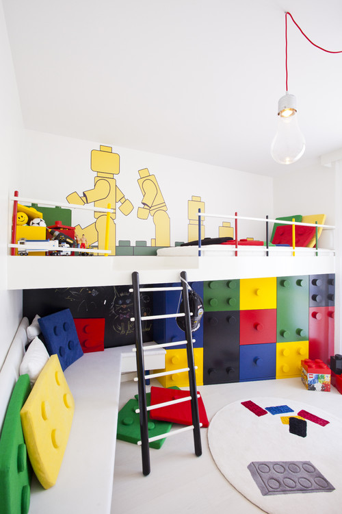 12 Kids Playroom Ideas For Maximum Fun - Get inspiration and ideas for your kids playroom or bedroom with these creative kids playrooms. | https://heartenedhome.com
