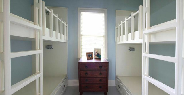 custom built in bunk beds traditional