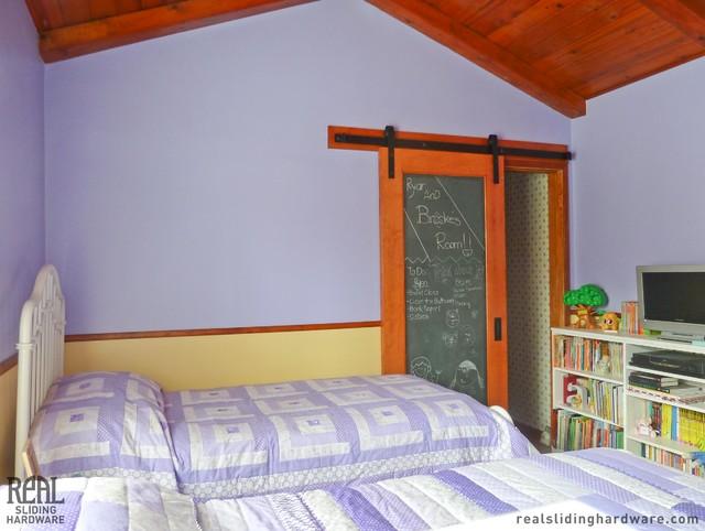 Custom Chalkboard Barn Door traditional-kids