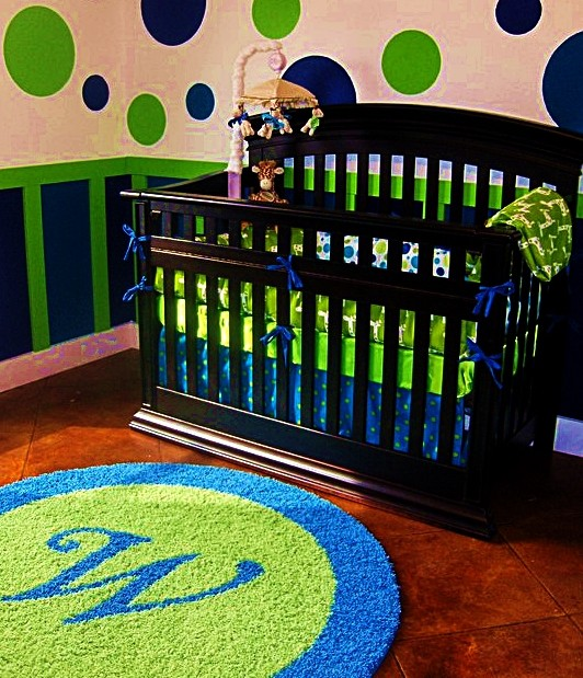 Custom Initial Monogram Rugs Contemporary Kids Other