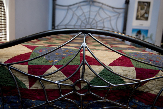 custom made wrought iron bed frame eclectic kids