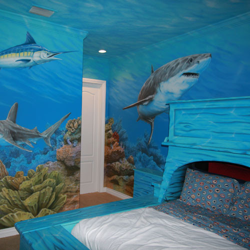10 bedrooms that look like they 39 re under water for Room decor under 10