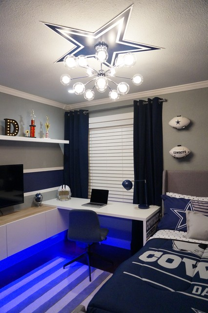 Dallas Cowboys Bedroom Contemporary Kids San