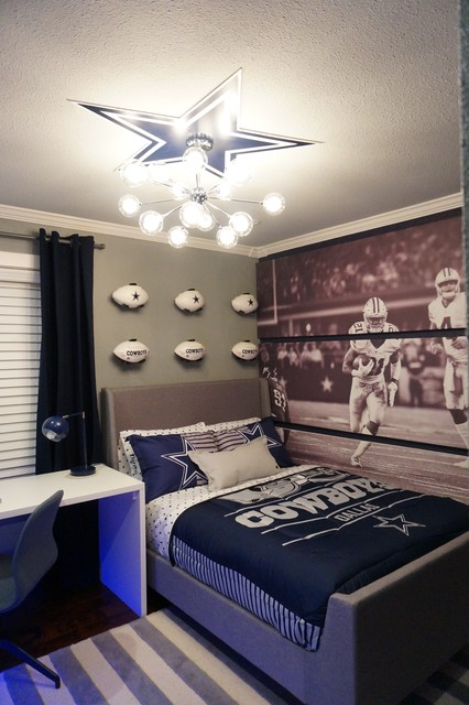Dallas cowboys teen bedroom for Dallas cowboy bedroom ideas