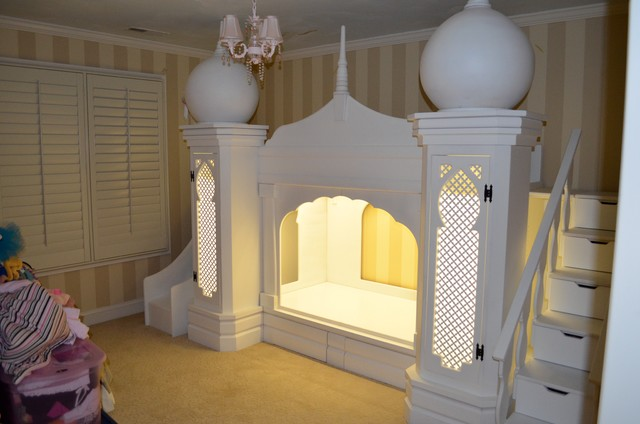 disney princess girls princess castle bed - mediterran