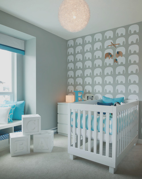 Elephant themed nursery for Baby room decoration uk
