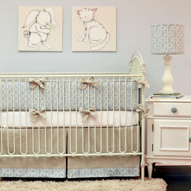 Doodlefish peaceful crib bedding set modern kids atlanta by doodlefish inc - Modern baby girl crib bedding ...