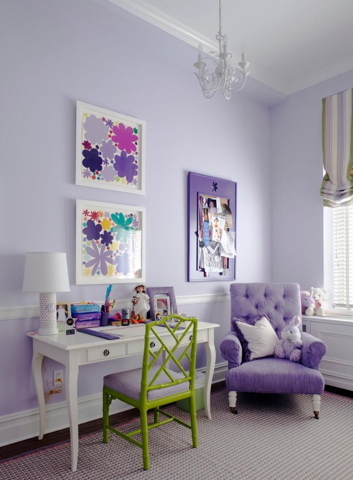 Elegant girl kids' room photo in New York