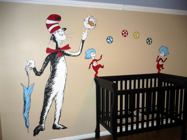 Dr Seuss Theme Nursery In Michigan By Ml Murals Of Traditional Kids